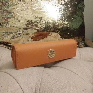Orange Tory Burch eye glass case. Nwot